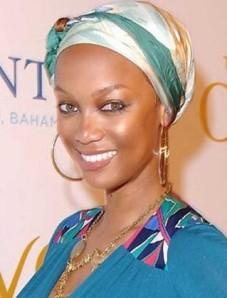 Até Tyra Banks se rendeu aos turbantes!