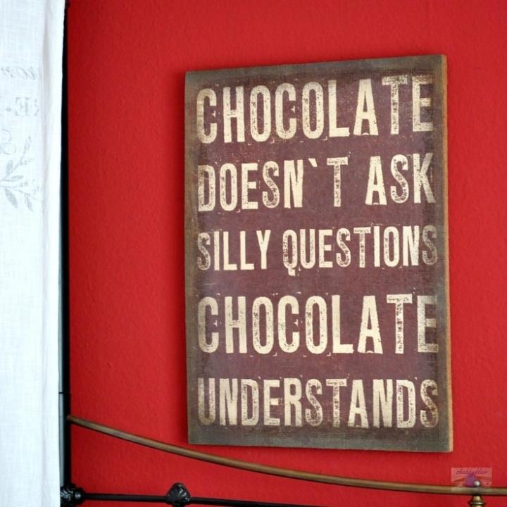 Chocolate não faz perguntas idiotas - o chocolate entende!