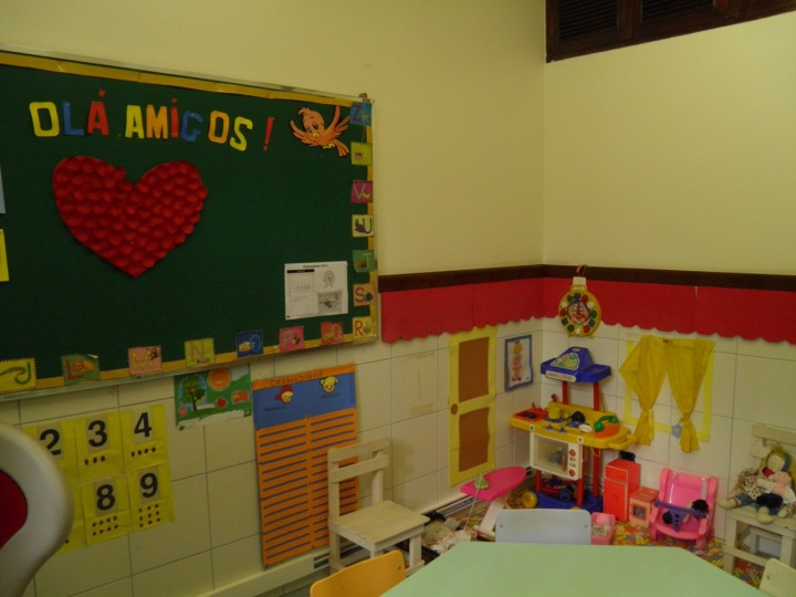 sala de aula dos pequenos.