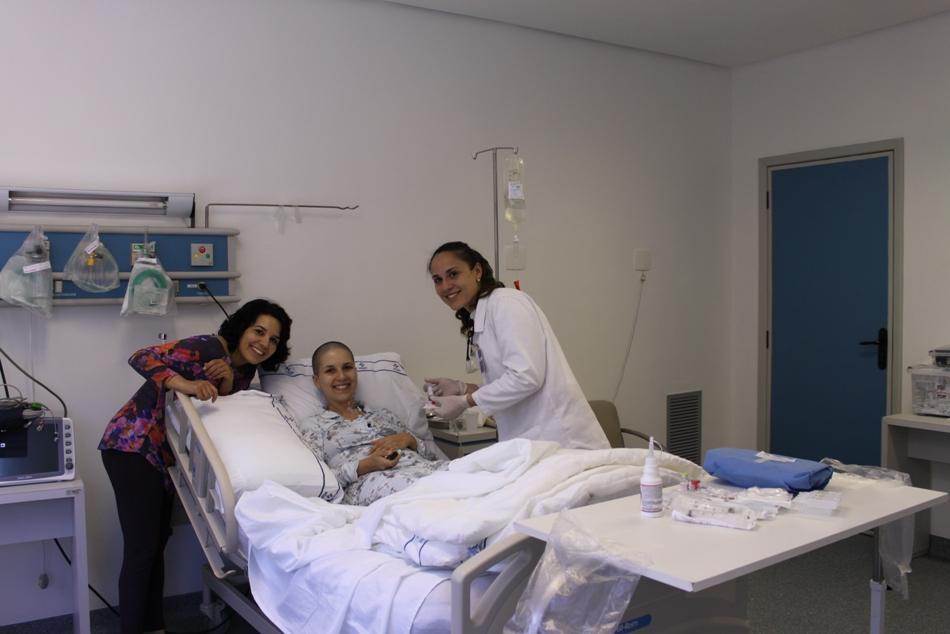 Essa é a minha irmã Paula (que acompanhou o transplante)