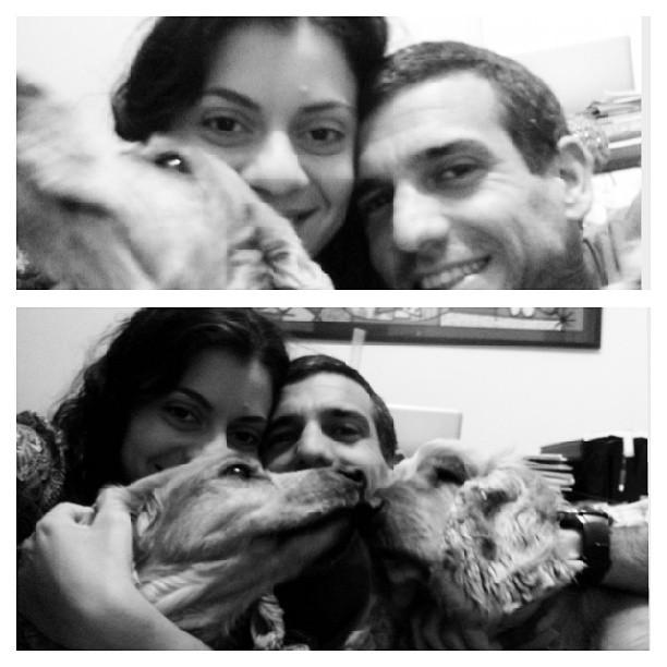 Thaís, Paulo Henrique e os filhos - caninos, por enquanto!