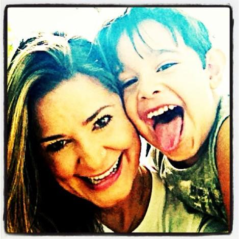 Aline e seu filho Guile!