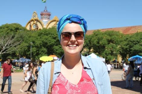 Joy e seus turbantes lindos - mais adiante ela vai nos ensinar essas amarrações incríveis!