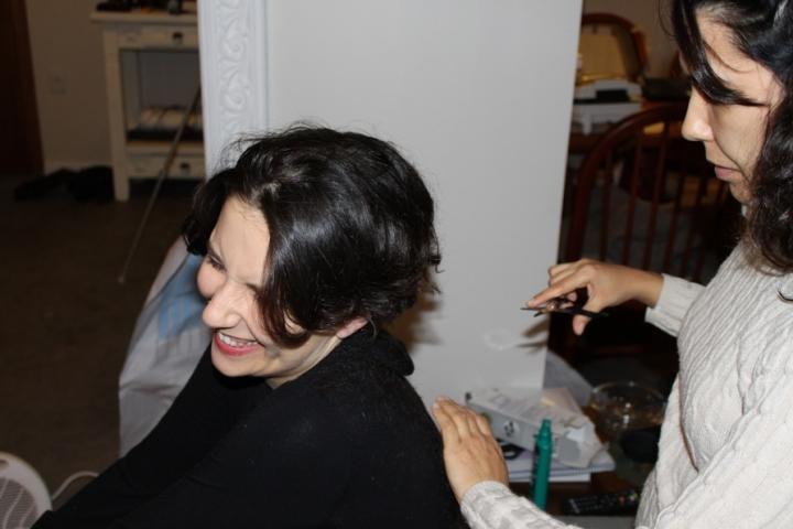 Cabeleireira SUPER profissional, me deixou cheia de cabelos nas costas!!!