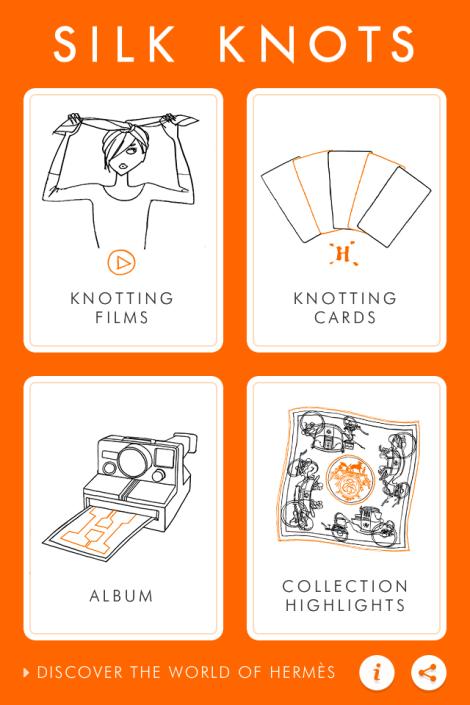 Você já conhece o Hermès Silknots app?