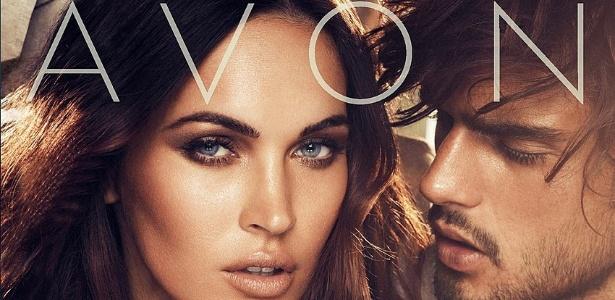 E com a atriz Megan Fox para a Avon.